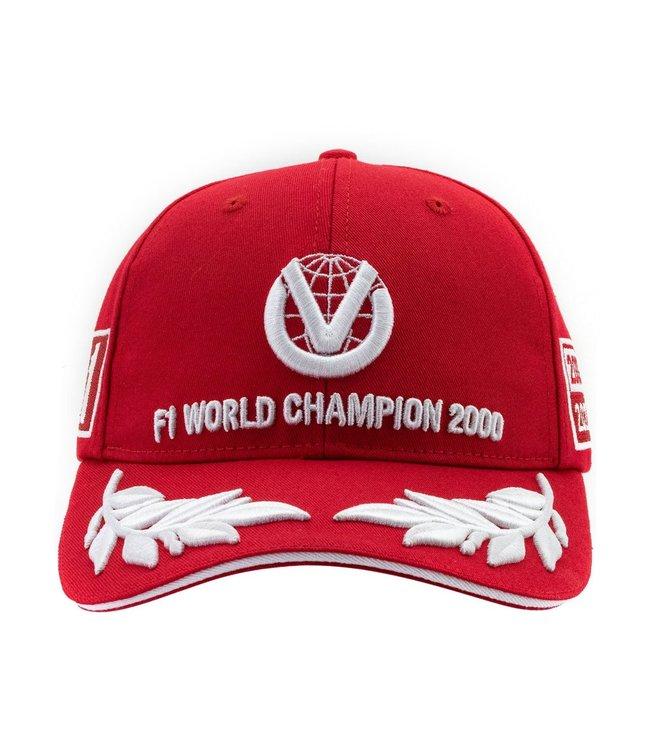 Michael Schumacher Formula 1 World Champion 2000 Limited Edition Adult Baseball Cap Red