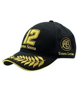 Ayrton Senna Adult Classic Lotus Baseball Cap Black