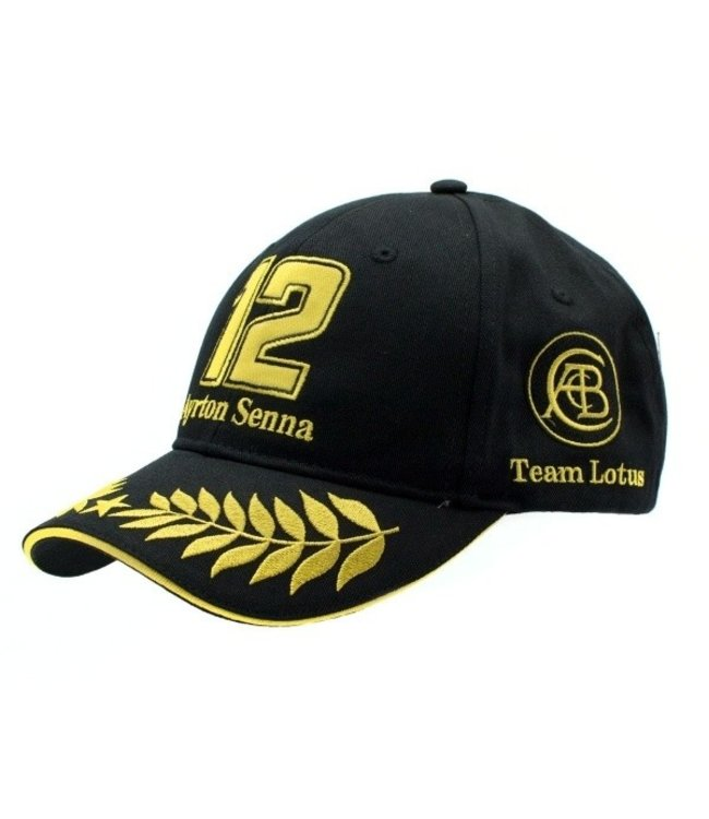 Ayrton Senna Classic Lotus Baseball Cap Black - Senna Foundation Collection
