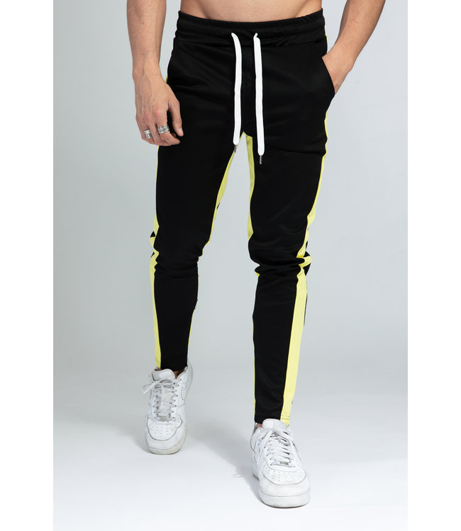 TAPED JOGGERS - BLACK/YELLOW