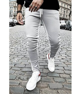 TAPED JOGGERS - GREY/WHITE