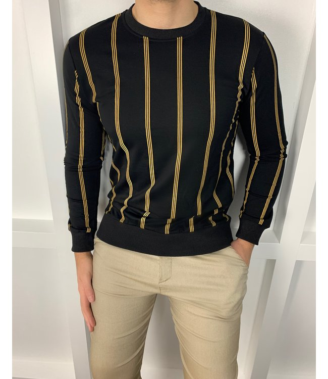 STRIPED SWEATER - GOLD