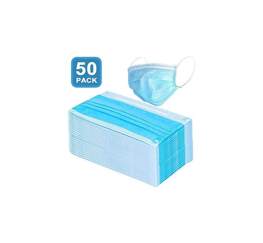 Mondkapjes verpakt per 50 stuks in een disposable doos