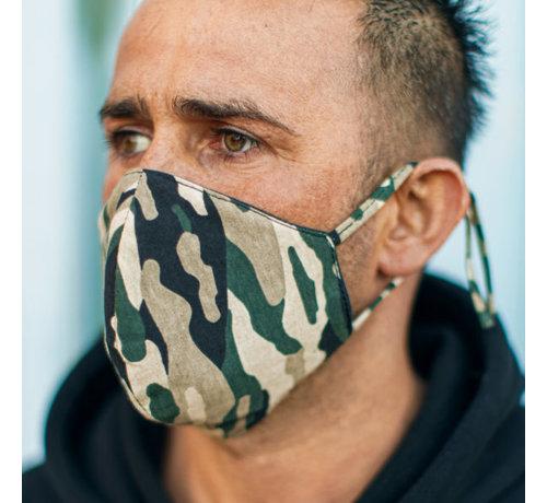 Street Wear Mask Wasbaar beschermend katoenen mondkapje - 3D voorgevormd