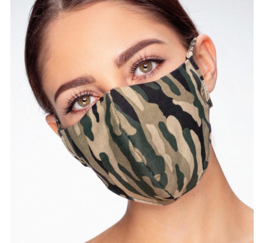 Stoffen Mondkapje   Camo   Streetwear   Zacht Katoen   Single pack