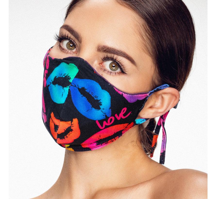Stoffen Mondkapje | Lippen | Streetwear | Zacht Katoen | Single pack