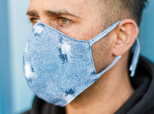 Street Wear Mask Stoffen Mondkapje   Jeans   1x