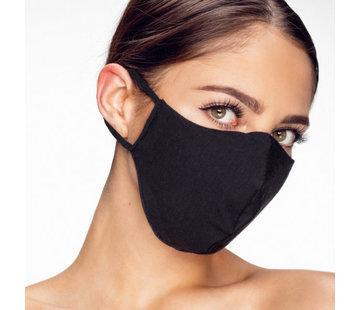 Street Wear Mask Stoffen Mondkapje | Zwart effen | 1x