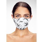 Street Wear Mask Stoffen Mondkapje | Birds Wit| 1x