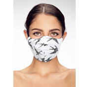 Street Wear Mask Washable Birds on White - M09