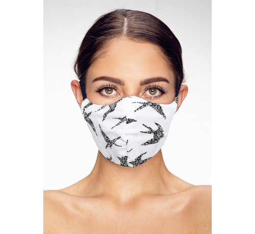 Street Wear Mask Stoffen Mondkapje | Birds | Streetwear | Zacht Katoen | Single pack