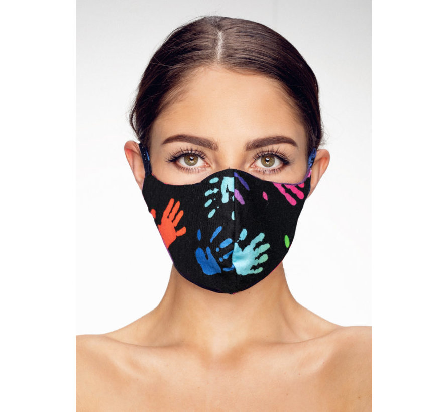 Washable mask made of OEKO TEX cotton - 3D preshaped