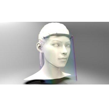 Mondkapjes.nl Lichtweight Nylon Minimalistic Face Shield