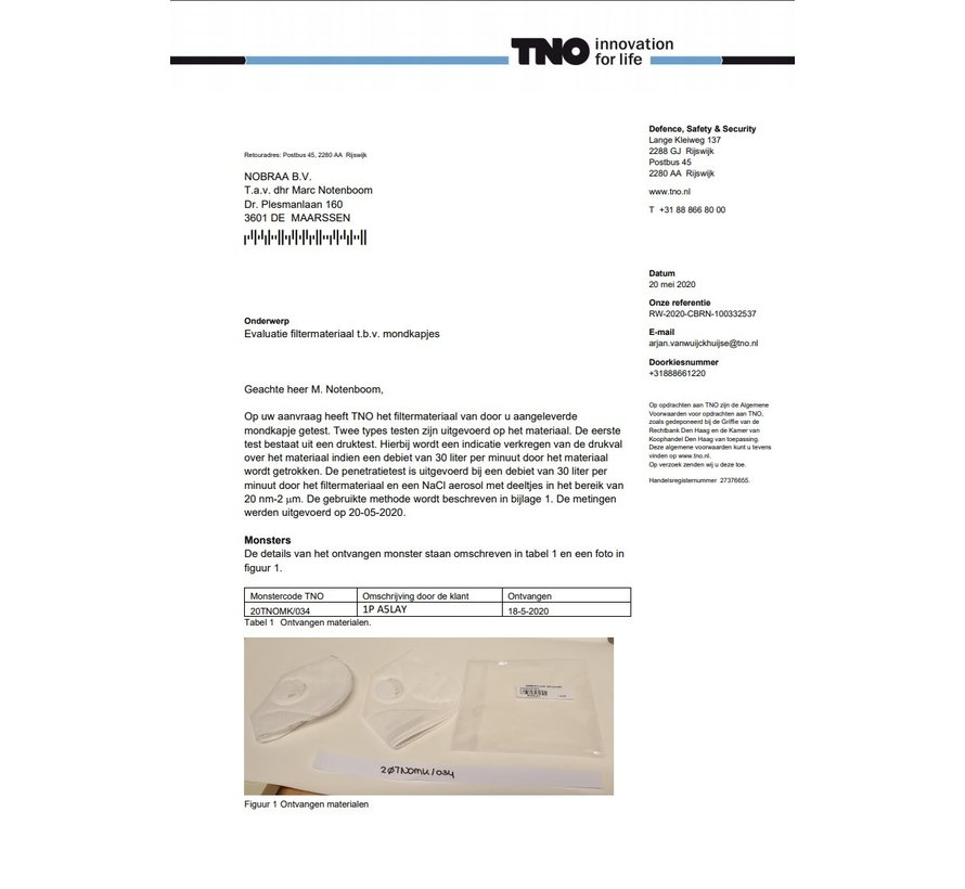 10 stuks -  Ventiel - TNO gekeurd 5 Laags mondmasker vd hoogste bescherming en kwaliteit KN95 FFP2