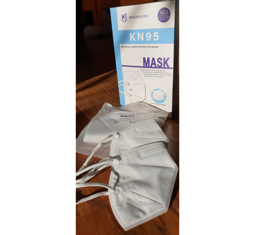 10 pack - Top quality comfortable mask TNO certified 5 Layer mask  KN95 FFP2