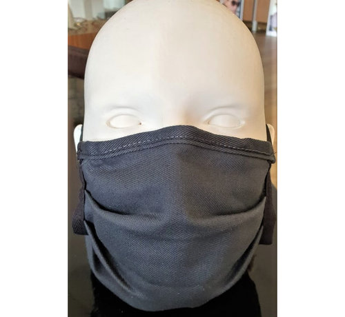 Mondkapjes.nl Washable Mask Coton Dark Grey made in Germany