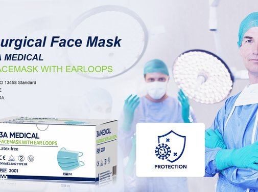 Mondkapjes.nl 3A Medical IIR top quality surgical masks