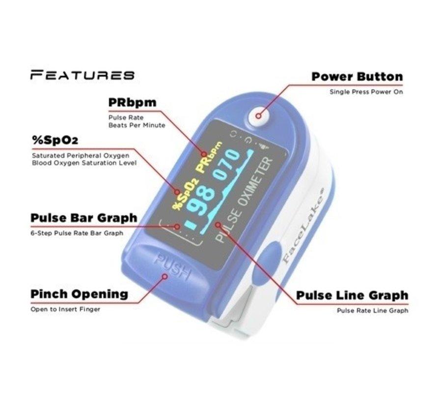 Zuurstofmeter |  Blauw | CMS50D | Saturatiemeter O2