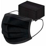 Mondkapjes.nl Zwarte mondkapjes in doos (50stuks)