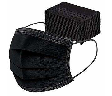Mondkapjes.nl 50 pieces black surgical masks in box EN149:2001
