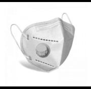 Mondkapjes.nl 10 stuks - Ventiel - TNO getest 5 Laags mondmasker FFP2 getest