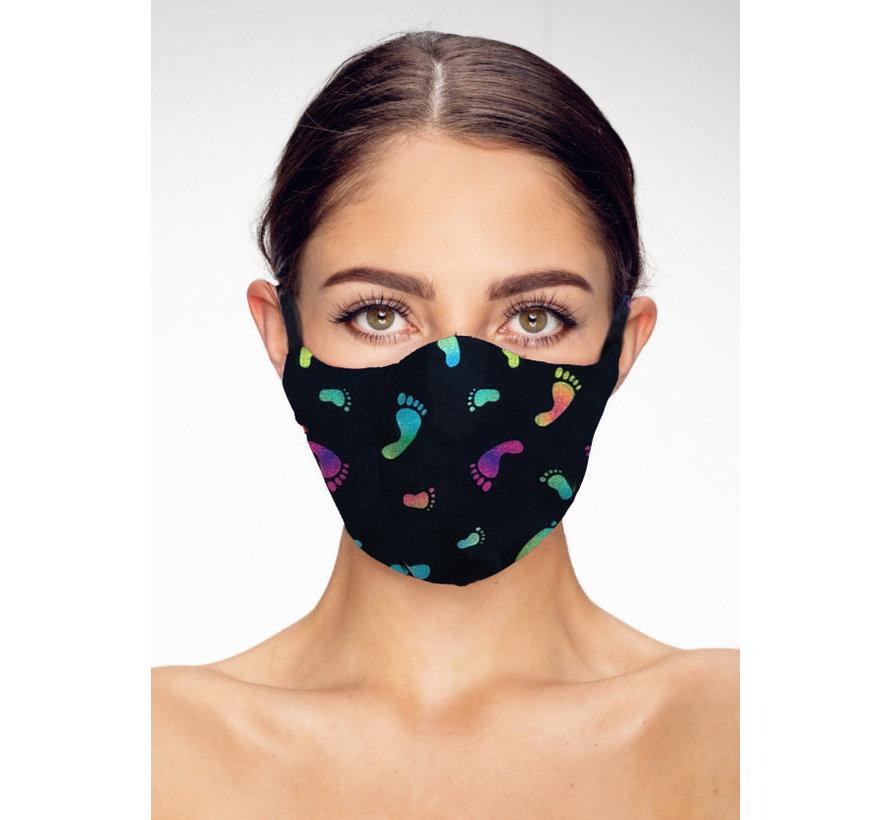 Washable mask made of OEKO TEX cotton - 3D preshaped