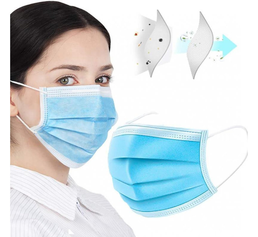 250x Surgical masks packed in a box (GB/T 32610-2016)