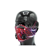 Mondkapjes.nl Trainingsmasker | Red Abstract |1x