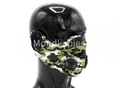 Mondkapjes.nl Trainingsmasker | Army Black | 1x