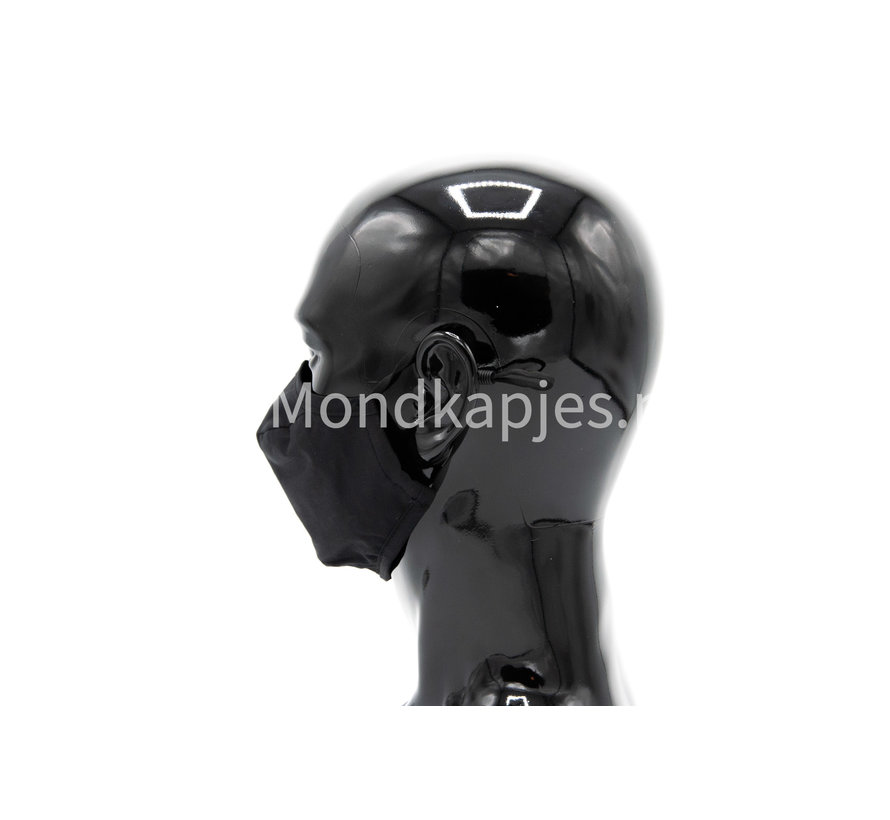 Face mask | Plain Black | AP | Without valve | Single pack