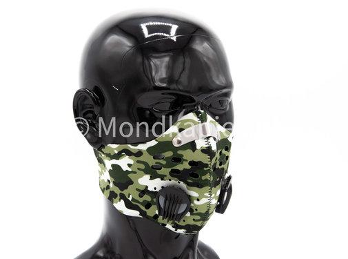 Mondkapjes.nl Trainingsmasker | Army White | 1x