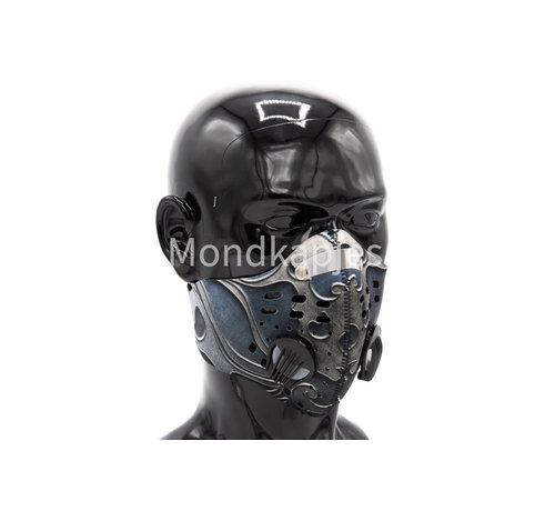 Mondkapjes.nl Stoffen Trainingsmasker |  Ancient Grey | AP | Dubbel ventiel | Single