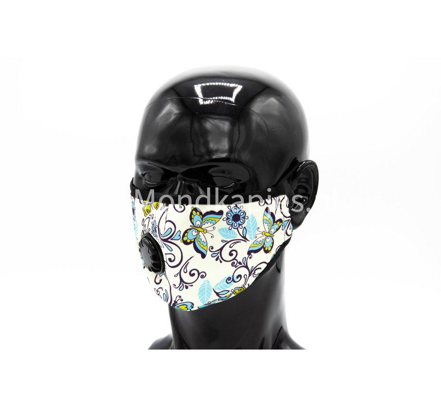 Stoffen Mondkapje | Butterfly | AP | Met ventiel | Single pack
