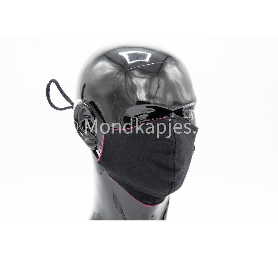 Washable mask made of OEKO TEX cotton - 3D preshaped - Purple