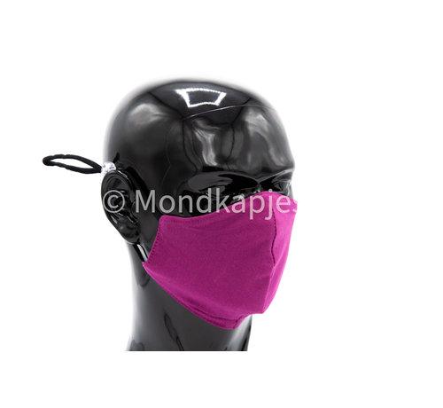 Street Wear Mask Wasbaar beschermend katoenen mondkapje - 3D voorgevormd - Paars
