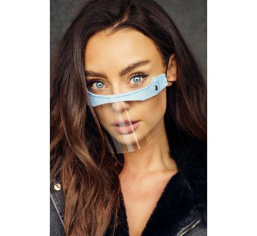 Street Wear Mask Mouth Shields - Mini Shield Baby Blue