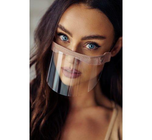 Street Wear Mask Mouth Shield - Mini Shield Brown