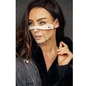 Street Wear Mask Face Shield  | Mini Shield | Cream