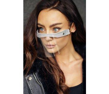 Street Wear Mask Face Shield  | Mini Shield Creme Grijs