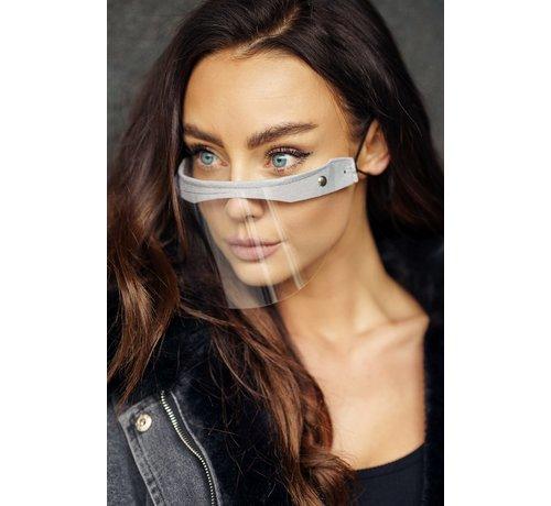 Street Wear Mask Face Shield - Mondscherm  | Street wear | Mini Shield Creme Grijs
