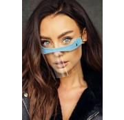 Street Wear Mask Mouth Shield Cream Gray Blue