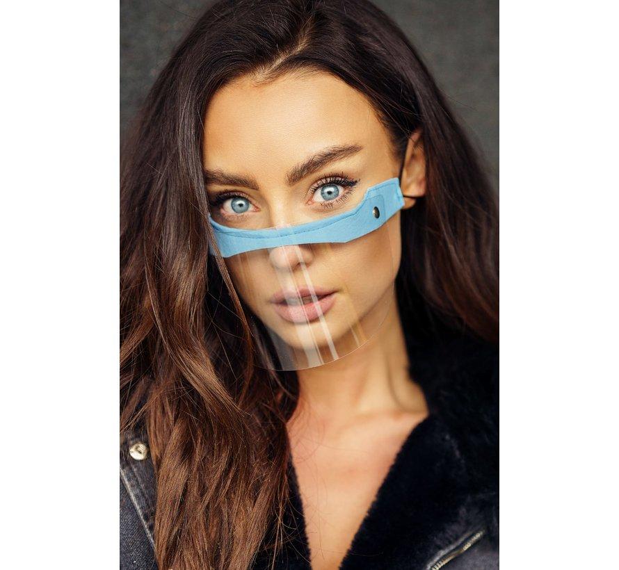 Face Shield - Mondscherm  | Street wear | Mini Shield Blauw