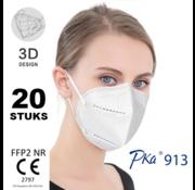 Pka 20 stuks - FFP2 NR 5 Laags kwaliteit mondmasker /  gecertificeerd FFP2 mondkapje EN 149:2001 +A1:2009