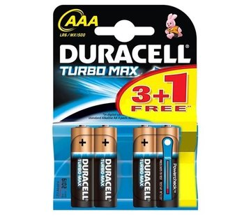 Duracell 4 AAA batteries