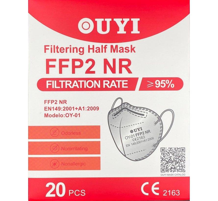FFP2 NR 5 Laags Medisch Mondmasker Wit | Ouyi  | 20-Pack