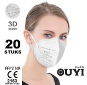 OUYI 20 stuks - FFP2 NR 5 Laags medisch mondmasker