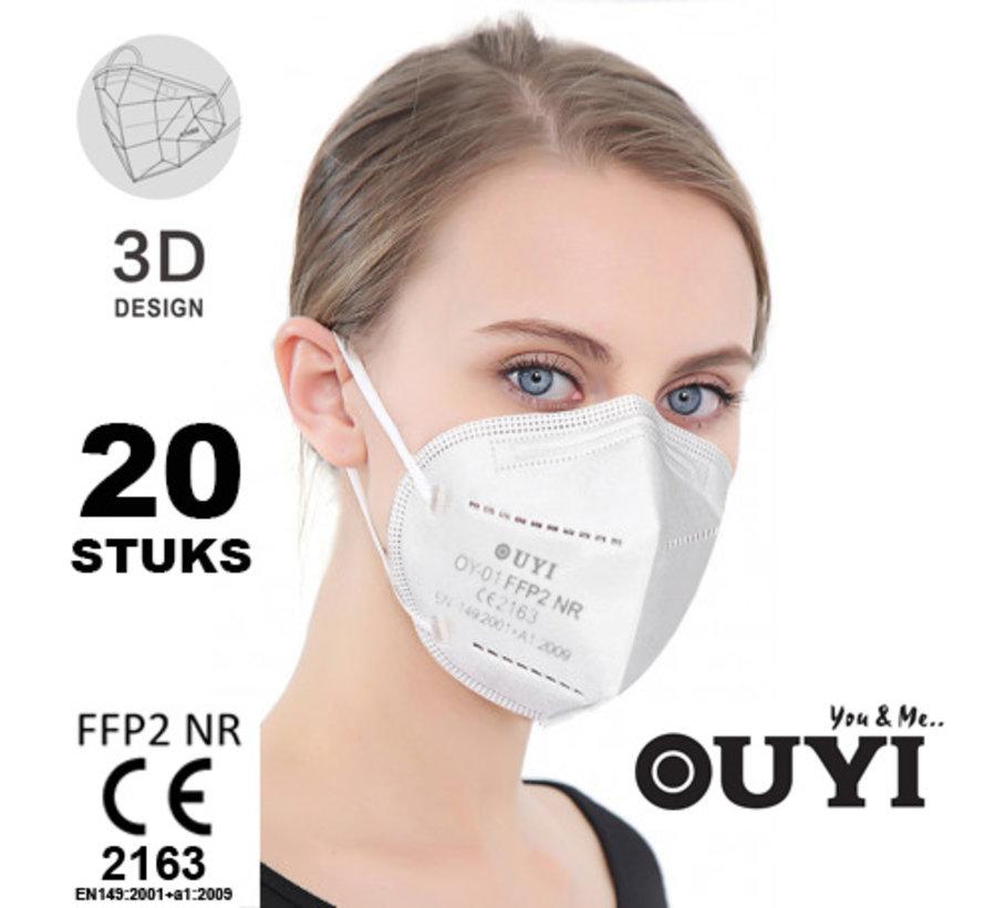 20 stuks - FFP2 NR 5 Laags medisch mondmasker /  gecertificeerd FFP2 mondkapje EN 149:2001 +A1:2009 -