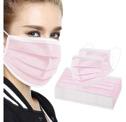 NPS 50 pieces Pink Face Masks