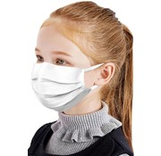 Mondkapjes.nl 50 pieces Kids masks White