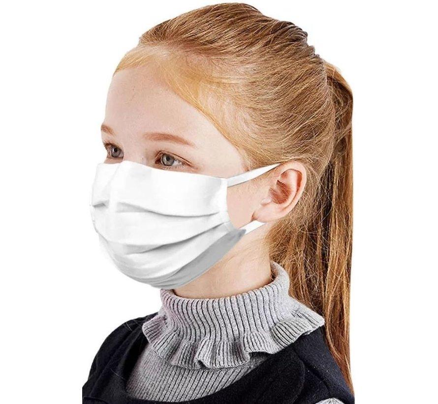 50 pieces Kids masks 3-layer White